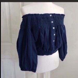 🆕✨ Free People Top Blue Size S